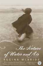 A young woman in a cloak, her back to the camera, walks into the ocean on the book's cover.