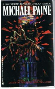 A sinister figure comes crashing through a stained glass window, reaching for the reader, on the book's cover.