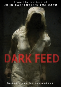 A nurse's uniform covers a dark presence on the movie poster.