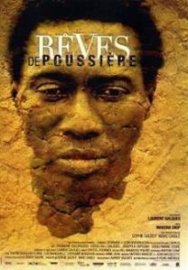 Mocktar's face is overlaid on the stony desert ground on the movie poster.