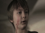 David (Rocko Hale) after a close call in a still from the film.