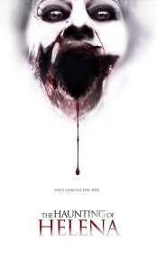 The tooth fairy, bleeding from her mouth, haunts the otherwise perfectly white film poster.
