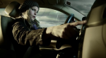 Sofia drives in a still from the film.