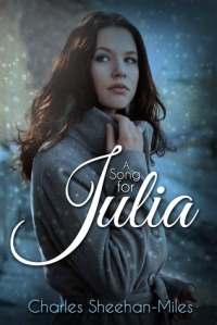 Julia stands, waiting, on the book's cover.