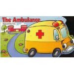 The titular ambulance goes down the road on the book's cover.