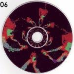 A symmetrical design that resembles the legs of dancers adorns the CD.