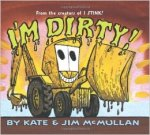 The muddy loader has a big grin on his face on the book cover.