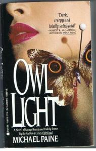 A moth with wings resembling the eyes of an owl, rests on a woman's cheek on the book cover.