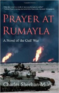 A tank sits, burning oil wells in the background, as if in contemplation on the book's cover.