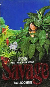 A woman's face is almost completely hidden by foliage on the book's cover.