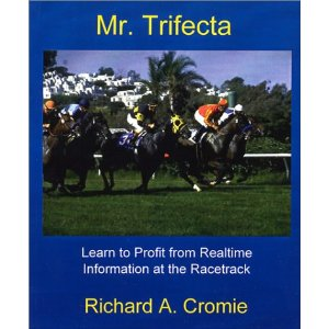 A generic picture of racing horses graces the cover of the book.