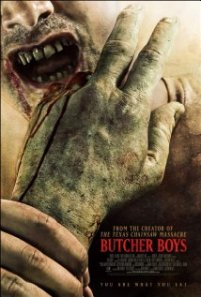 A close-up of a mouth getting ready to bite into a half-eaten hand adorns the movie poster.