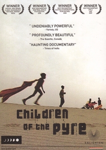Two of the movie's titular children, running with a stolen burial shawl, adorn the movie poster.
