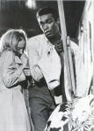 Duane Jones comforts Judth O'Dea in a still from the film.