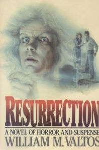 Two people stand in the distance, staring at the ghostly face that dominates the book cover.