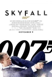 Bond fires a gun from a prone position on the movie poster.