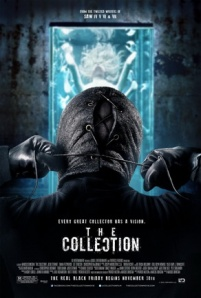 The Collector dons the mask again on the movie poster.