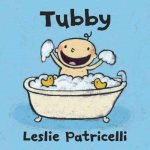 Patricelli's happy baby frolics in the tub on the book cover.