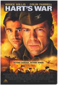 Willis and Farrell's faces adorn the movie poster.