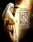 The title's nun, not nude, stands ready for a firefight on the movie poster.