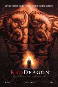 Francis Dolarhyde's inked back dominates the movie poster.