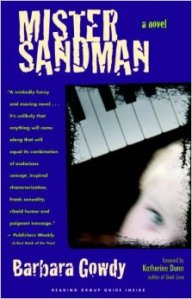 A girl's blue eye is juxtaposed with a piano keyboard on the book's cover.
