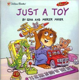 Little Critter tries to choose a toy from all the possibilities on the cover.