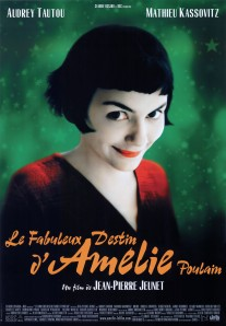 The title character, in a red blouse, smiles against a green background on the movie poster.