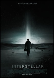 Matthew McConaughey walks to a spaceship on the movie poster.