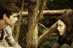 Thomas and Theresa try to figure out where they came from in a still from the film.