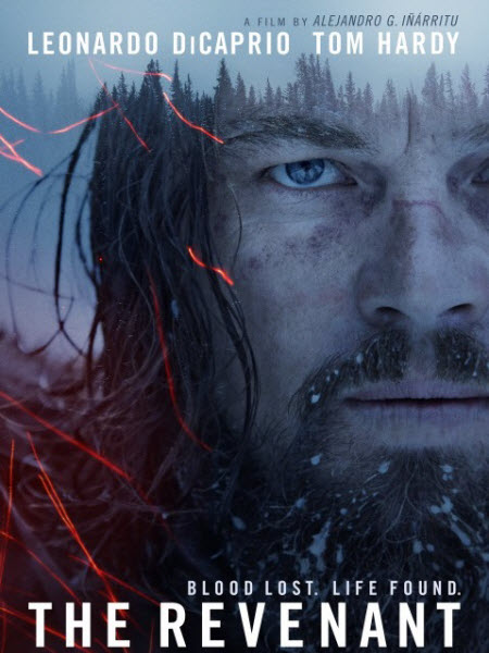 Leonardo DiCaprio stares determinedly out of the movie's poster.