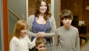 Emelie (Bolger) and the kids say goodbye to the parents in a still from the film.